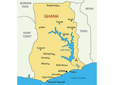 GhanaMap Display Adaptability - Map of ghana