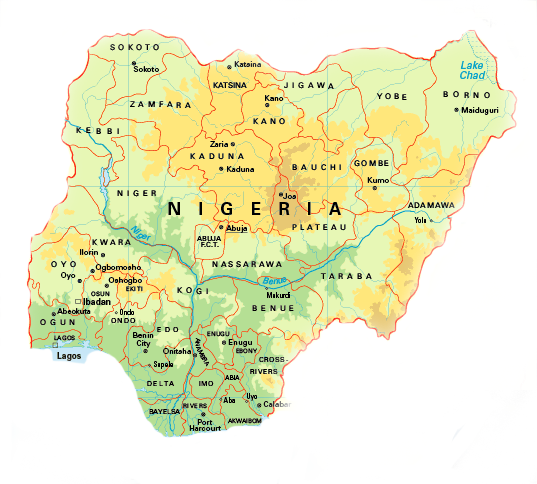 NigeriaMap Display Adaptability - Nigeria map