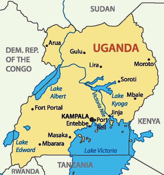 Uganda Map Display Adaptability